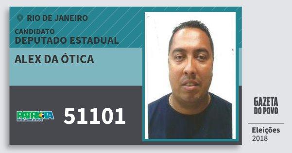 Santinho Alex da Ótica 51101 (PATRI) Deputado Estadual | Rio de Janeiro | Eleições 2018