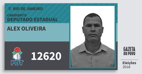 Santinho Alex Oliveira 12620 (PDT) Deputado Estadual | Rio de Janeiro | Eleições 2018