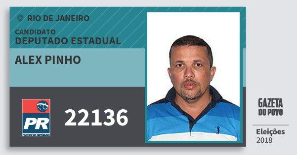 Santinho Alex Pinho 22136 (PR) Deputado Estadual | Rio de Janeiro | Eleições 2018