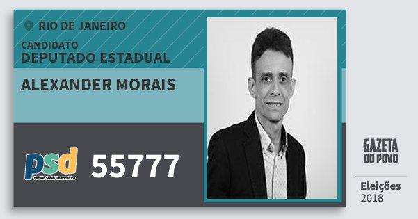 Santinho Alexander Morais 55777 (PSD) Deputado Estadual | Rio de Janeiro | Eleições 2018