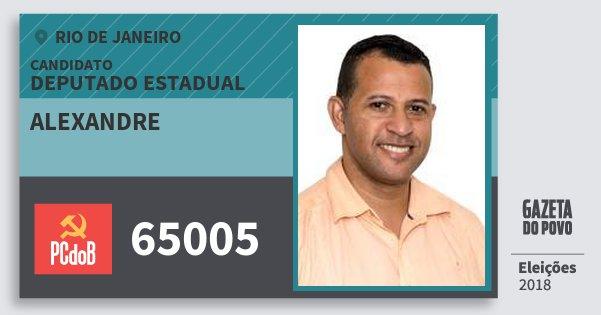 Santinho Alexandre 65005 (PC do B) Deputado Estadual | Rio de Janeiro | Eleições 2018