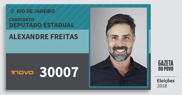 Santinho Alexandre Freitas 30007 (NOVO) Deputado Estadual | Rio de Janeiro | Eleições 2018
