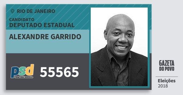 Santinho Alexandre Garrido 55565 (PSD) Deputado Estadual | Rio de Janeiro | Eleições 2018
