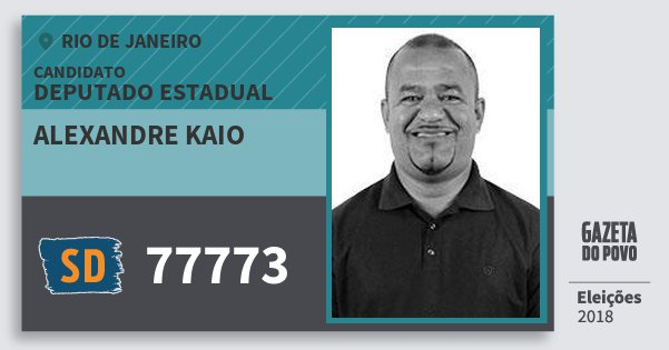 Santinho Alexandre Kaio 77773 (SOLIDARIEDADE) Deputado Estadual | Rio de Janeiro | Eleições 2018