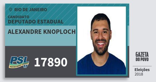 Santinho Alexandre Knoploch 17890 (PSL) Deputado Estadual | Rio de Janeiro | Eleições 2018