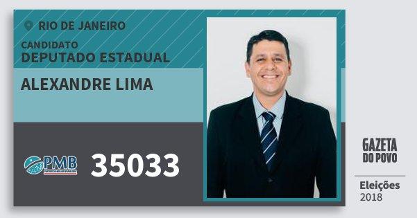 Santinho Alexandre Lima 35033 (PMB) Deputado Estadual | Rio de Janeiro | Eleições 2018