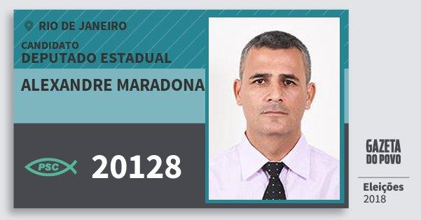 Santinho Alexandre Maradona 20128 (PSC) Deputado Estadual | Rio de Janeiro | Eleições 2018