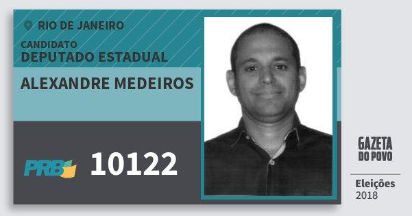 Santinho Alexandre Medeiros 10122 (PRB) Deputado Estadual   Rio de Janeiro   Eleições 2018