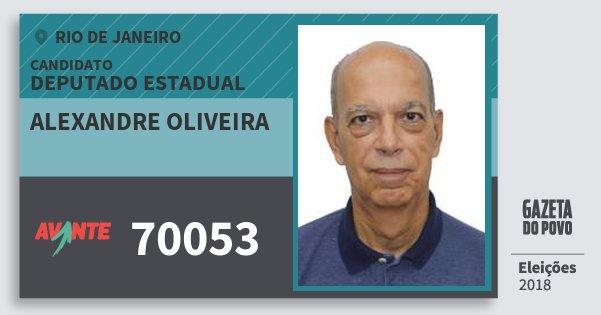 Santinho Alexandre Oliveira 70053 (AVANTE) Deputado Estadual | Rio de Janeiro | Eleições 2018