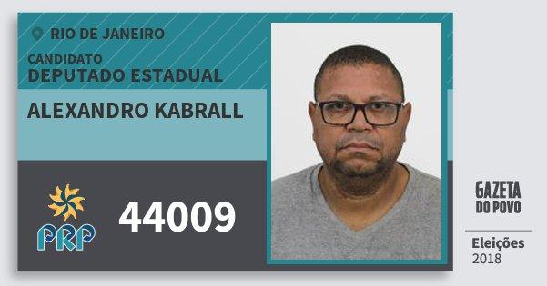 Santinho Alexandro Kabrall 44009 (PRP) Deputado Estadual | Rio de Janeiro | Eleições 2018