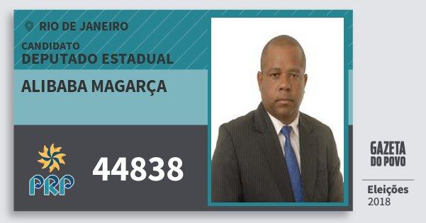 Santinho Alibaba Magarça 44838 (PRP) Deputado Estadual | Rio de Janeiro | Eleições 2018