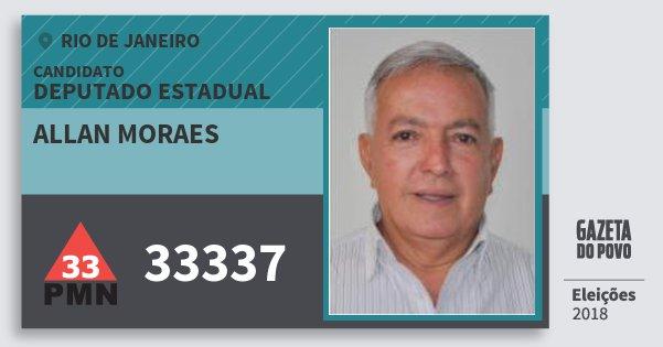 Santinho Allan Moraes 33337 (PMN) Deputado Estadual | Rio de Janeiro | Eleições 2018