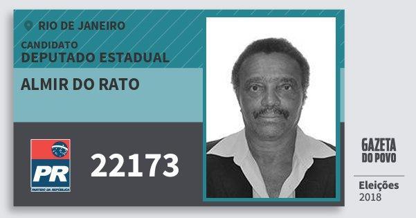 Santinho Almir do Rato 22173 (PR) Deputado Estadual | Rio de Janeiro | Eleições 2018