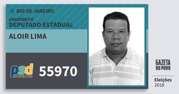 Santinho Aloir Lima 55970 (PSD) Deputado Estadual | Rio de Janeiro | Eleições 2018