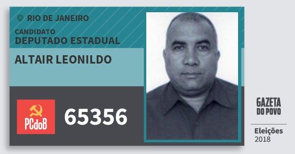 Santinho Altair Leonildo 65356 (PC do B) Deputado Estadual | Rio de Janeiro | Eleições 2018