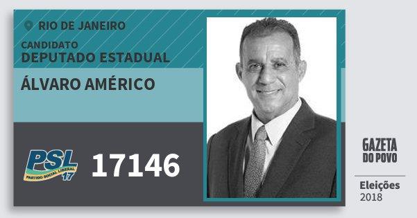 Santinho Álvaro Américo 17146 (PSL) Deputado Estadual | Rio de Janeiro | Eleições 2018