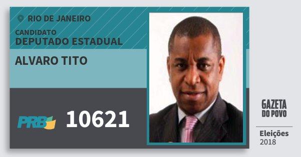 Santinho Alvaro Tito 10621 (PRB) Deputado Estadual | Rio de Janeiro | Eleições 2018