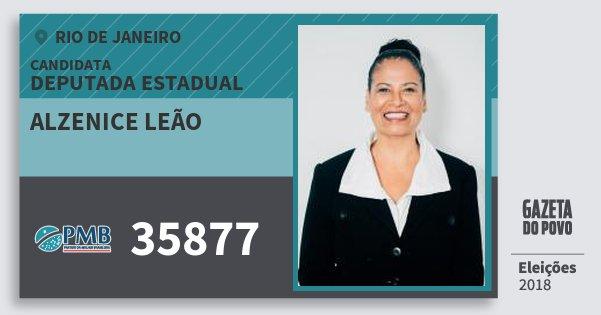 Santinho Alzenice Leão 35877 (PMB) Deputada Estadual | Rio de Janeiro | Eleições 2018