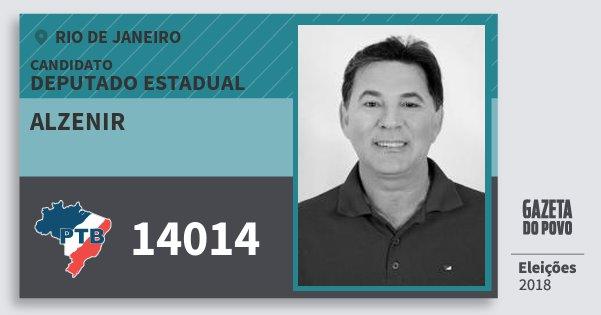 Santinho Alzenir 14014 (PTB) Deputado Estadual | Rio de Janeiro | Eleições 2018
