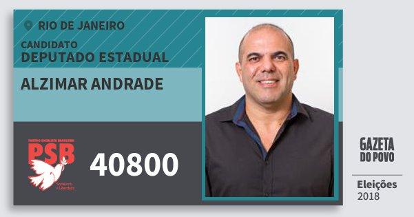 Santinho Alzimar Andrade 40800 (PSB) Deputado Estadual | Rio de Janeiro | Eleições 2018