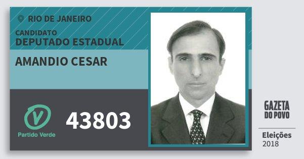 Santinho Amandio Cesar 43803 (PV) Deputado Estadual | Rio de Janeiro | Eleições 2018