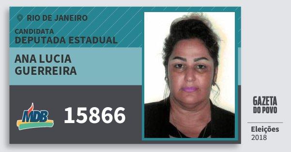 Santinho Ana Lucia Guerreira 15866 (MDB) Deputada Estadual | Rio de Janeiro | Eleições 2018
