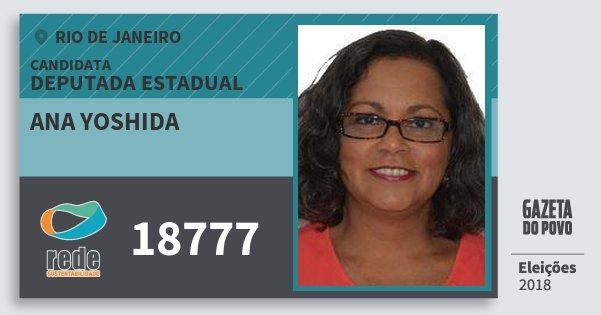 Santinho Ana Yoshida 18777 (REDE) Deputada Estadual | Rio de Janeiro | Eleições 2018