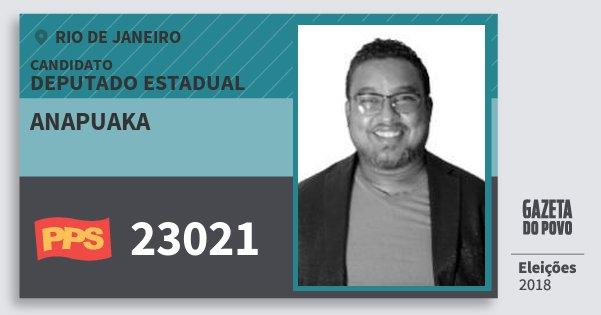 Santinho Anapuaka 23021 (PPS) Deputado Estadual | Rio de Janeiro | Eleições 2018