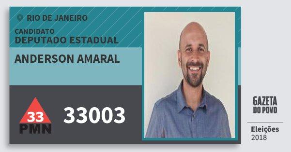 Santinho Anderson Amaral 33003 (PMN) Deputado Estadual | Rio de Janeiro | Eleições 2018