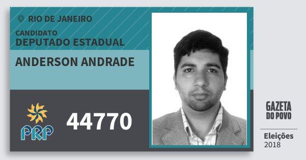 Santinho Anderson Andrade 44770 (PRP) Deputado Estadual | Rio de Janeiro | Eleições 2018