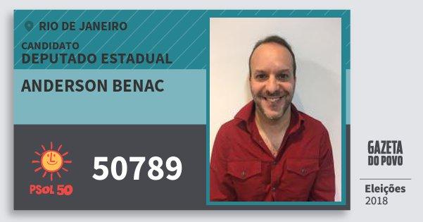 Santinho Anderson Benac 50789 (PSOL) Deputado Estadual | Rio de Janeiro | Eleições 2018