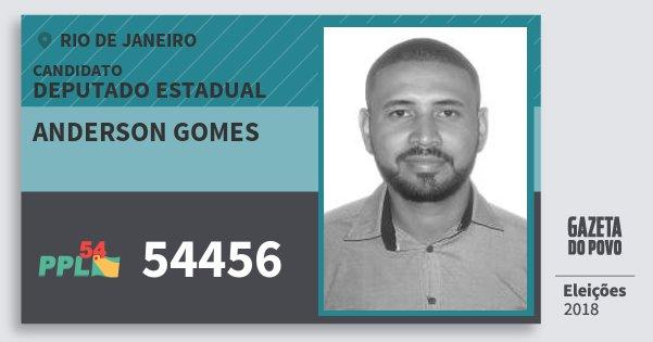 Santinho Anderson Gomes 54456 (PPL) Deputado Estadual | Rio de Janeiro | Eleições 2018