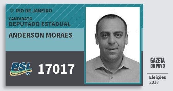 Santinho Anderson Moraes 17017 (PSL) Deputado Estadual | Rio de Janeiro | Eleições 2018
