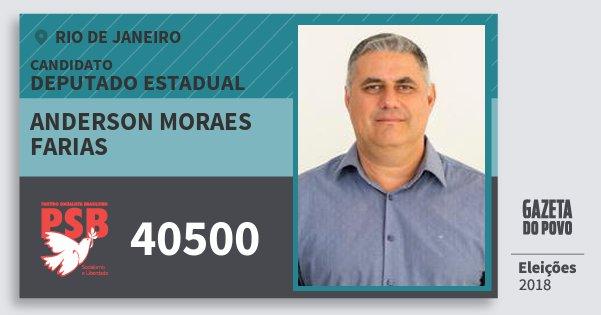 Santinho Anderson Moraes Farias 40500 (PSB) Deputado Estadual | Rio de Janeiro | Eleições 2018