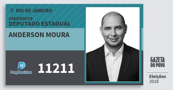 Santinho Anderson Moura 11211 (PP) Deputado Estadual | Rio de Janeiro | Eleições 2018