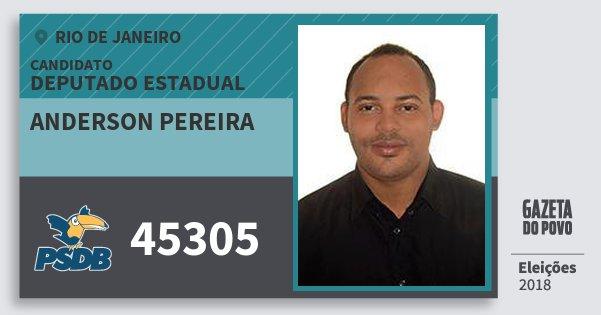 Santinho Anderson Pereira 45305 (PSDB) Deputado Estadual | Rio de Janeiro | Eleições 2018