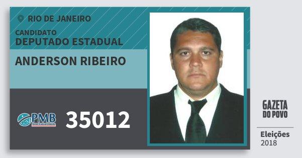 Santinho Anderson Ribeiro 35012 (PMB) Deputado Estadual | Rio de Janeiro | Eleições 2018