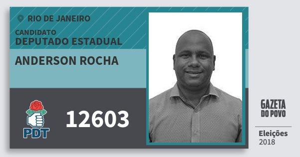 Santinho Anderson Rocha 12603 (PDT) Deputado Estadual | Rio de Janeiro | Eleições 2018