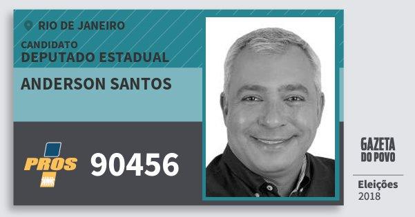 Santinho Anderson Santos 90456 (PROS) Deputado Estadual | Rio de Janeiro | Eleições 2018