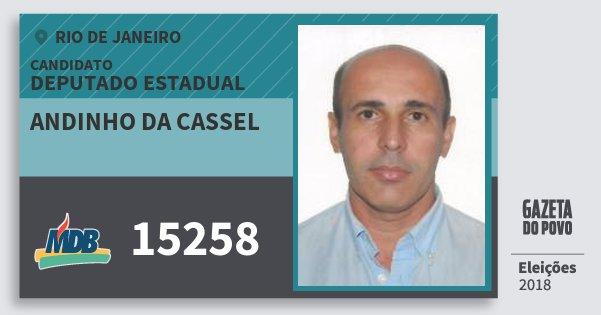 Santinho Andinho da Cassel 15258 (MDB) Deputado Estadual | Rio de Janeiro | Eleições 2018