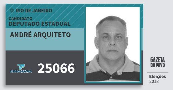 Santinho André Arquiteto 25066 (DEM) Deputado Estadual | Rio de Janeiro | Eleições 2018