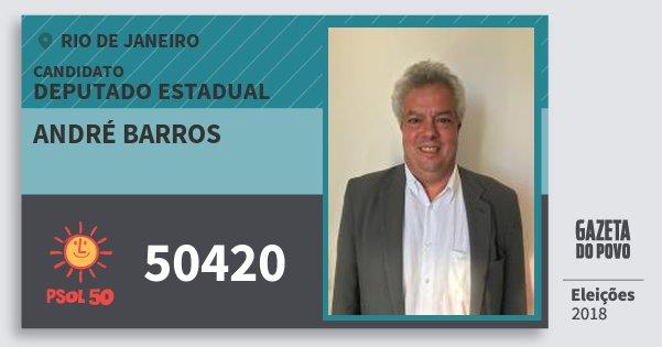 Santinho André Barros 50420 (PSOL) Deputado Estadual | Rio de Janeiro | Eleições 2018