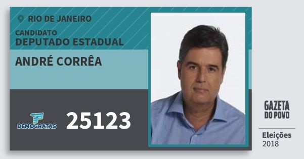 Santinho André Corrêa 25123 (DEM) Deputado Estadual   Rio de Janeiro   Eleições 2018