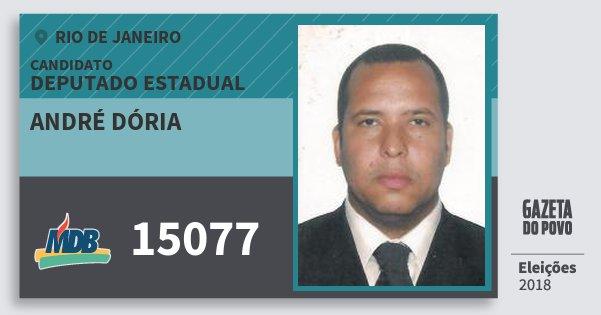 Santinho André Dória 15077 (MDB) Deputado Estadual | Rio de Janeiro | Eleições 2018