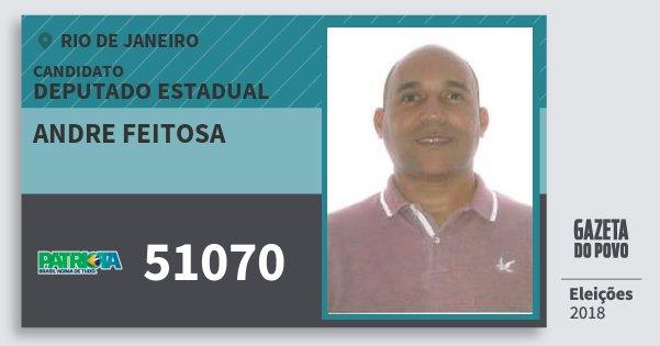 Santinho Andre Feitosa 51070 (PATRI) Deputado Estadual | Rio de Janeiro | Eleições 2018