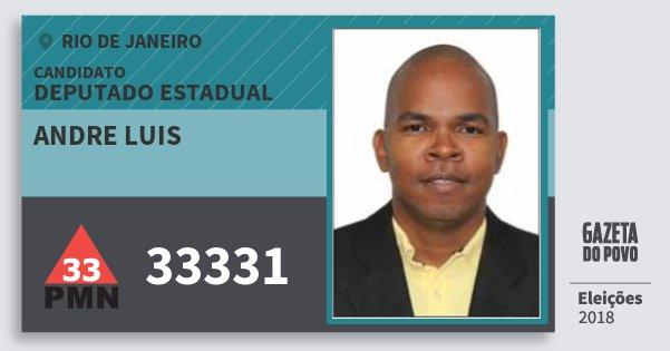 Santinho Andre Luis 33331 (PMN) Deputado Estadual | Rio de Janeiro | Eleições 2018