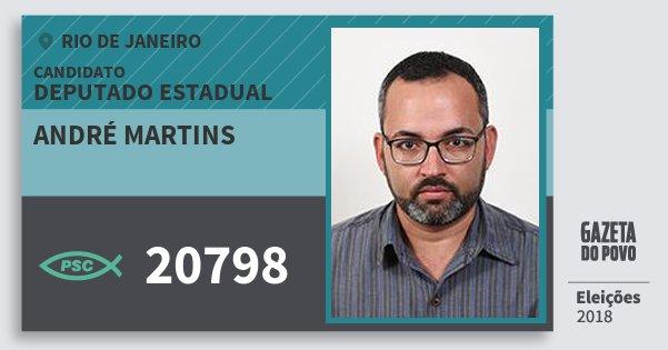 Santinho André Martins 20798 (PSC) Deputado Estadual | Rio de Janeiro | Eleições 2018
