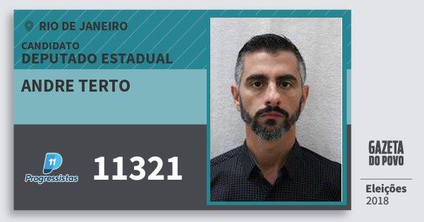 Santinho Andre Terto 11321 (PP) Deputado Estadual   Rio de Janeiro   Eleições 2018