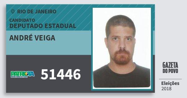 Santinho André Veiga 51446 (PATRI) Deputado Estadual | Rio de Janeiro | Eleições 2018