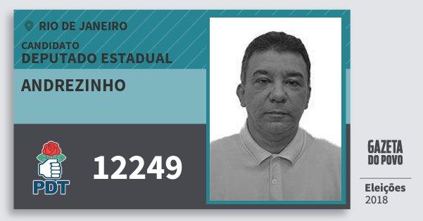 Santinho Andrezinho 12249 (PDT) Deputado Estadual | Rio de Janeiro | Eleições 2018